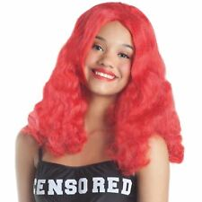 RED HAIR BEAUTY RIHANNA ADULT WIG ANIME COSPLAY PARTY FASHION HALLOWEEN COSTUME