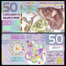 Kamberra 50 Numismas, China Lunar Year 2020,  Polymer,  New Issue, UNC, Mouse