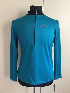 SheBeest Turquoise Half Zip Long Sleeve Cycling Jersey Women's Size Medium NEW