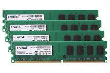 8 GB Crucial 2GB x4PCS DDR2 800MHz 2RX8 PC2-6400U DIMM Ram Intel Memoria de escritorio
