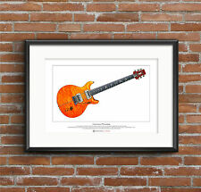 Carlos Santana's PRS prototype guitar Limited Edition Fine Art Print A3 size