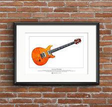 Carlos Santana's PRS prototype guitar Limited Edition Fine Art Print A3 size