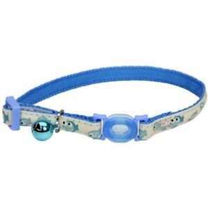 Safe Cat® Adjustable Snag-Proof Nylon Breakaway Collar, Glowing Blue