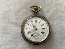 Vintage Pin Set Mechanical Wind Up Pocket Watch