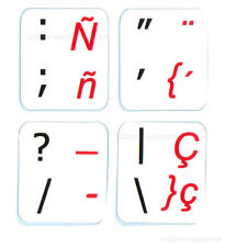 Spanish Traditional-English Non Transparent sticker for keyboards Online-Welcome