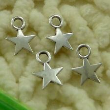 free ship 380 pieces tibetan silver star charms 11x8mm #3448