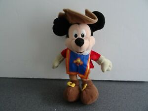 GENUINE DISNEY MICKEY MOUSE THE THREE 3 MOUSEKETEER MUSKETEER BEANIE PLUSH TOY