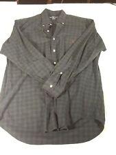 St162 Ralph Lauren Casual Plaid Button Down Dress Shirt Medium M