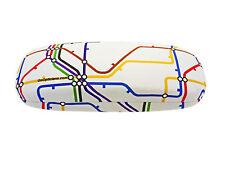 Unisex Hard GoOpticians Underground Train Map Spectacle / Glasses Case