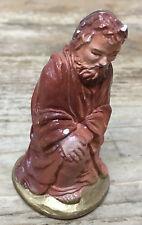 Vintage Nativity Creche Joseph Eyes Close Christmas Religious Plaster Figurine M