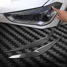 2pcs Real Carbon Fiber Eyebrows Eyelid Head Light Trim for BMW X1 F48 2016-2018