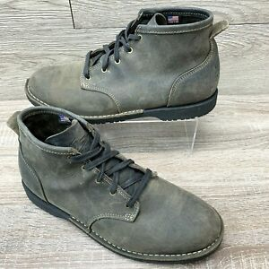 Vtg Danner Jack Men's Casual Lifestyle Ankle Boot Gray Nubuck Leather Size 10.5