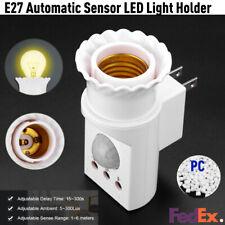 E27 Wirelss PC Socket Infrared PIR Body Motion Sensor Adjustable LED Bulb Holder