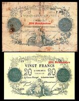 2x 20, 25 Fr. - Edition 1870 - 1873 - Reproduction - 19