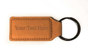 Customized 3D Laser Engraved Custom Personalized Keychain Gift (TAN) New Gift
