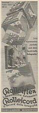 Z3397 Apparecchi fotografici ROLLEIFLEX ROLLEICORD - Pubblicità - 1934 old ad
