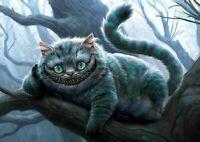 Art Print Poster/Canvas Cheshire Cat - Alice In Wonderland