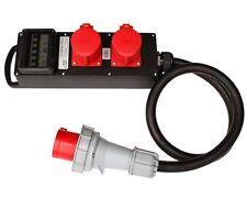 CEE Stromverteiler Vollgummi 63A / 400V zu 2x 32A Bausellenverteiler Adapter NEU