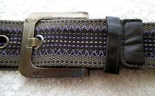 VG+ SPORTY OUTDOORS EDC BY ESPRIT MULTI-COLOR NYLON CASUALJEANS BELT 34""