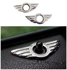 2 pcs für MINI Cooper Chrome Tür Lock Flügel JCW Abzeichen 3D Emblem R50 R53 R56