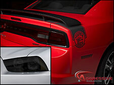 2011-14 Dodge Charger Smoked TAILLIGHT & HEADLIGHT Overlay Kit Tinted Vinyl Film
