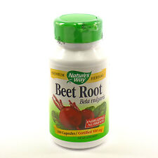 Beet Root Powder Capsules 500 mg by Nature's Way One Bottle of 100 Caps