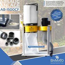 BAMATO Absauganlage AB-1500CF mit Feinstaubfilter Späneabsaugung Absaugung 230V