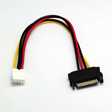 15-pin SATA Male to 4-pin Floppy FDD Female Power Converter Adapter Cable