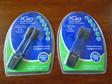 2 NEW iGo Power SPLITTER CHARGE 2 DEVICES AT ONE TIME