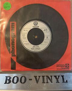 """BLACK SABBATH 7"""" - HARD ROAD/SYSTEM OF THE UNIVERSE SAB002 RARE 1978 VERTIGO EX"""