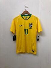 e3858fbe48e Nike Brazil Football Men's 2018 World Cup Home Shirt - Small - Pele 10 - New
