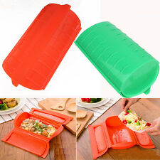 Microwave Oven Steamer Food Steamer Silicone Cooking Bowl Fish Vegetable Plate
