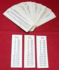 (50) Gas Station Pump Price Cards - Signs - 1940's 1950's - Vintage Original