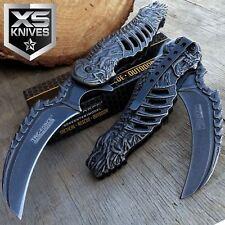 """8"""" TAC FORCE Skeleton Claw Spring Assisted Folding Pocket Knife Karambit"""