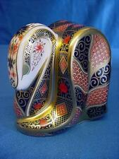 ROYAL CROWN DERBY 1128 OLD IMARI JAPAN SNAKE SERPENT PAPERWEIGHT NEW 1st QUALITY