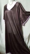 "Comfort Choice Long Purple w// Purple Nightgown Plus 1X 56/"" BUST"