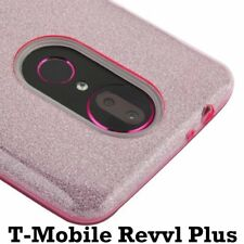 For Coolpad T-Mobile REVVL Plus - TPU Rubber Case Cover Pink Shiny Glitter Sheet