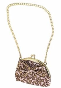 NEW Gymboree KITTY GLAMOUR Pink & Brown LEOPARD PRINT Girls PURSE BAG - NWT