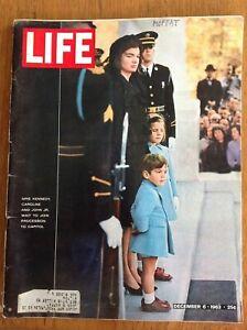 Life magazine 1963 December 6~Pres John Kennedy funeral~Jackie~Caroline~John Jr