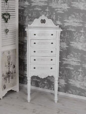 VINTAGE COMMODE SHABBY CHIC COMMODE HAUTE BLANC TABLE DE CHEVET ANTIQUE