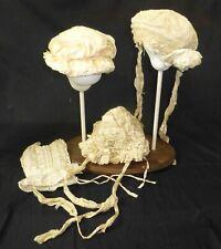 4 Antiguos Gorros De Seda Para Muñeca Antigua, ropa de muñecas, sombreros Vintage