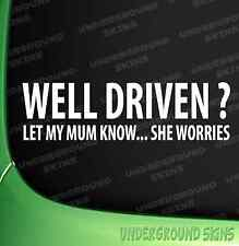 WELL DRIVEN CAR STICKER FUNNY JDM DRIFT EURO VINYL DECAL corsa