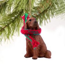 IRISH SETTER  DOG CHRISTMAS ORNAMENT HOLIDAY Figurine Scarf