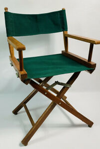 Vintage 60s Mid Century Modern Directors Commanders Folding Chair Green MCM