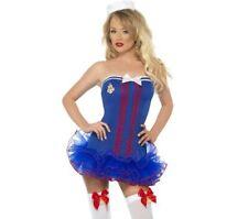LUX LADIES FEVER TUTU SAILOR FANCY DRESS costume HALLOWEEN HEN HAT SEXY BLUE