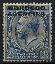 Morocco Agencies 1925-36 SG#58a, 2.5d Blue KGV Used #D47376