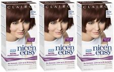 3 Clairol Nice n Easy Hair Dye (815R Deep Mahogany Brown) Lasts upto 24 Shampoos