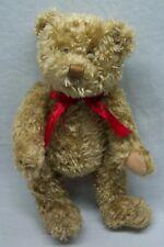 "Hallmark ""100 Years"" Teddy Bear With Red Bow 12"" Plush Stuffed Animal Toy"