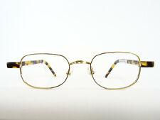 ROBERT LA ROCHE Brille eckige Designerfassung Metall Bügel Hornoptik Gr. L
