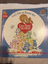 Care Bear Cousins ‎– Let's Get To Know The Care Bear Cousins Book and 33rpm EUC!